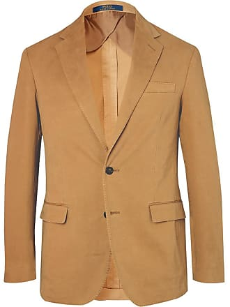 Polo Ralph Lauren Tan Slim-fit Unstructured Stretch-cotton Twill Blazer - Tan