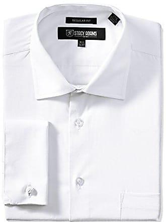 Stacy Adams Mens Big-Tall Adjustable Collar Dress Shirt, White, 16.5 Neck 36-37 Sleeve