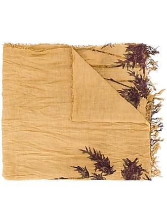 Uma Wang bamboo print scarf - Brown