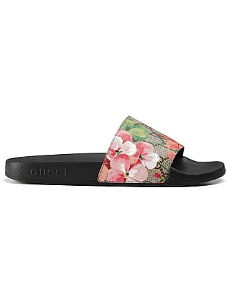 Gucci GG Blooms Supreme slide sandals - Black