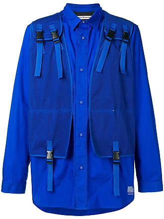White Mountaineering Camisa com padronagem - Azul