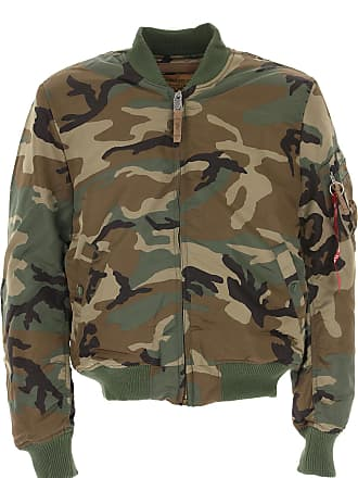 Alpha Industries Jacket for Men On Sale in Outlet, camouflage, polyester, 2017, L M