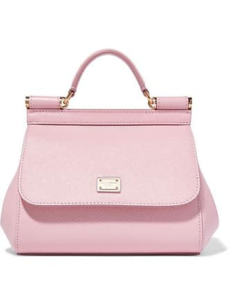 9fab95e352 Dolce   Gabbana Sicily Micro Textured-leather Tote - Pink