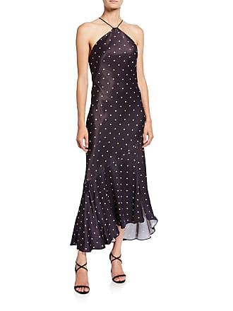0aa956307492 Shona Joy Odell Polka-Dot Bias-Cut Midi Halter Dress