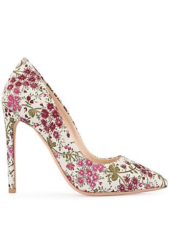 Giambattista Valli floral embroidered pumps - White