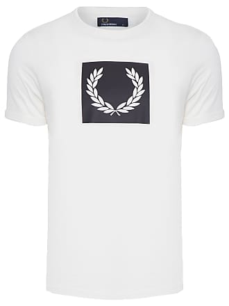 Fred Perry T-SHIRT MASCULINA LAUREAL WREATH - OFF WHITE