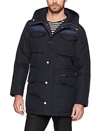 A|X Armani Exchange Mens Padded Winter Parka, Navy, Small