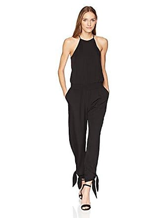 32187e94e814 Halston Heritage Womens Sleeveless High Neck Tapered Jumpsuit with Ties