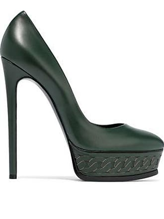 33ab722e4a3 Casadei Casadei Woman Leather Platform Pumps Dark Green Size 38.5