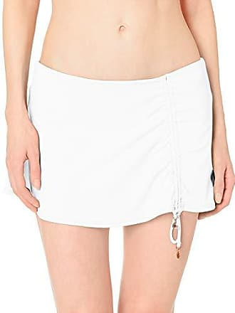 5656e89cefdaa Anne Cole Womens Solid Adjustable Sarong Skirted Swim Bottom, New White,  X-Small