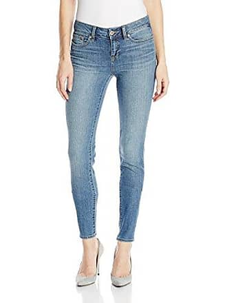 Yummie Tummie Womens Modern Mid Rise Slimming Skinny Denim Jeans Indigo Sandblast Jeans 25 X 30