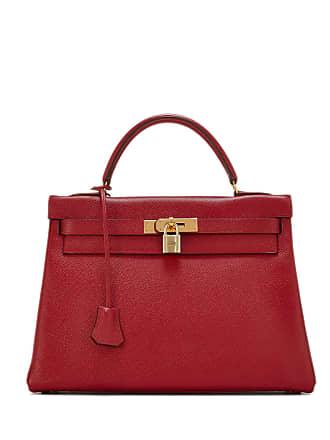 Hermès Vintage Kelly 35 Satchel Bag, Red