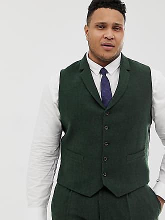 Asos Plus - Veston de costume de mariage slim en laine mélangée à chevrons  - Vert 77857c0ed42