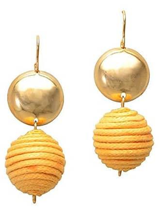 Tinna Jewelry Brinco Dourado Bolas Cobertas Pequenas (Amarelo)