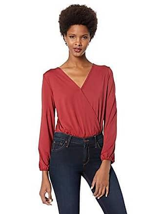 Lyssé Womens Bianca Blouse Top Bodysuit, red Dahlia XL
