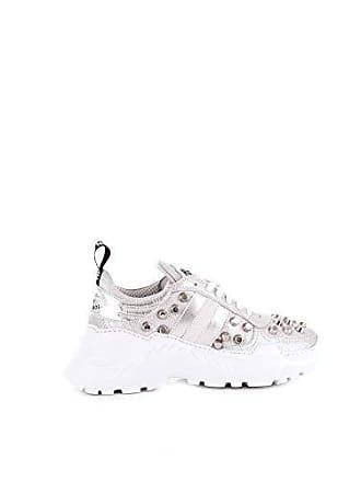 17fe7f67ba7d59 John Richmond Damen 7113Csilver Silber Leder Sneakers