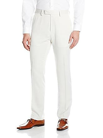 Kenneth Cole Reaction Mens Urban Heather Slim Fit Pant, Natural, 33x32
