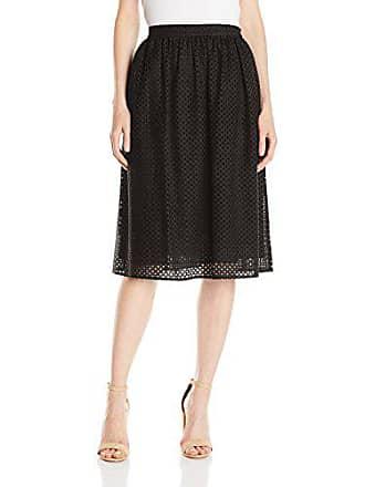 5b7e26d776 Lark & Ro Amazon Brand - Lark & Ro Womens Eyelet Midi Skirt, Black,