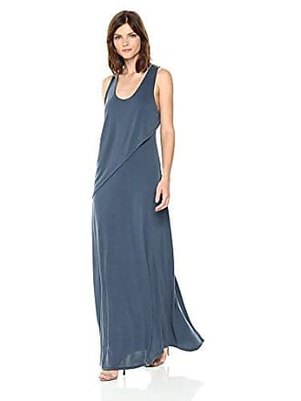 Bcbgmaxazria BCBGMax Azria Womens Audra Knit Ruffle Overlay Maxi Dress, Vintage Midnight Teal, S