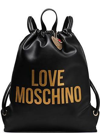 7a281b4187e Love Moschino Love Moschino Woman Logo-print Faux Leather Backpack Black  Size
