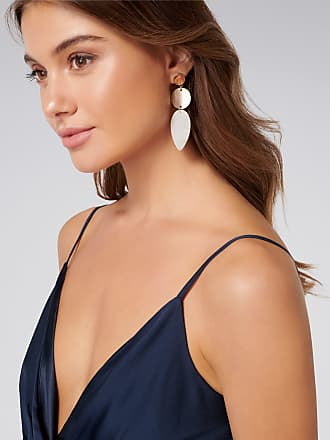 Forever New Aria Resin and Circle Drop Earrings - Neutral - 00