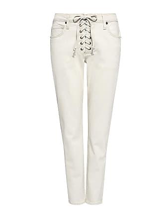 A.L.C. Yoko Lace-up Straight-leg Cropped Jeans White