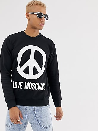 Love Moschino peace logo sweater-Black