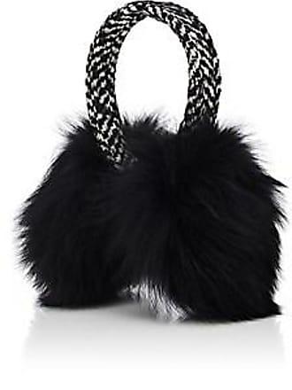 Eugenia Kim Womens Janine Wool-Blend Tweed & Fox Fur Earmuffs - Black