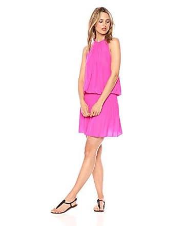 Ramy Brook Womens Paris Sleeveless Dress, Mystic Pink, Large