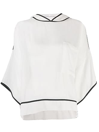 8pm sheer hooded top - White