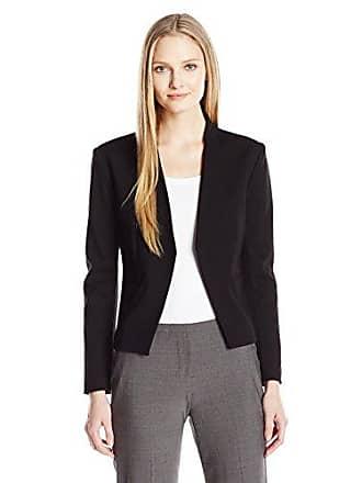 Ellen Tracy Womens Open Front Jacket, El/Black, 6