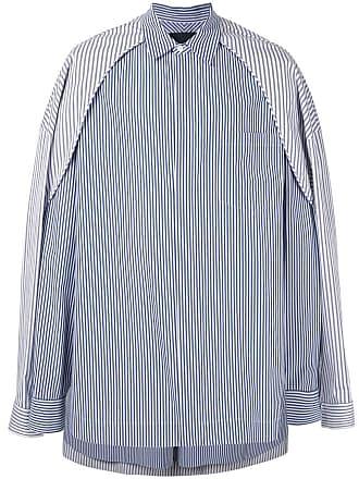 Juun.J contrast panel layered shirt - Branco