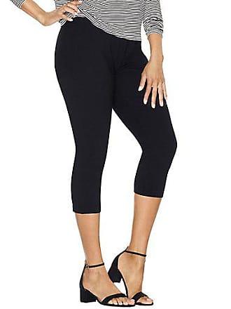 Just My Size Stretch Cotton Womens Capri Leggings Black 2XL