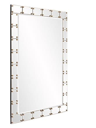 Elizabeth Austin Milan Remington Studded Wall Mirror - 27.5W x 39.5H in. - 29006