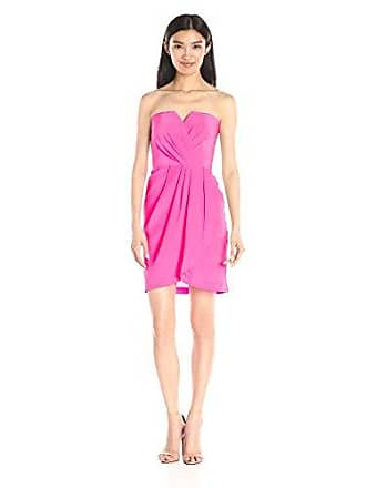Yumi Kim Womens Date Night Silk Dress, Pink, Small