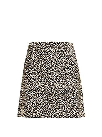 A.P.C. A.p.c. - Shanya Leopard Print Mini Skirt - Womens - Leopard
