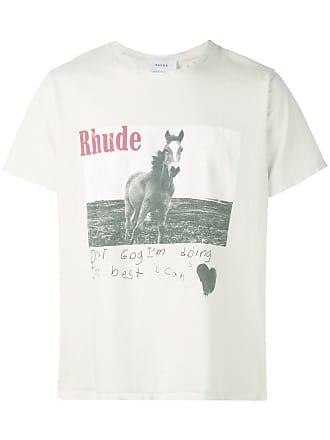 Rhude Camiseta com estampa gráfica - Branco