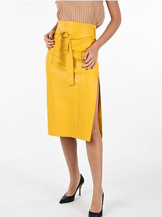Drome Leather Skirt with Split Größe S