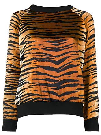 Alexandre Vauthier Suéter com estampa Tiger - Marrom