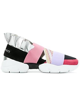Emilio Pucci metallic ruffle sneakers - Pink