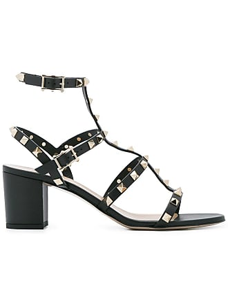 99ea460053d Valentino Valentino Garavani Rockstud strap detail sandals - Black