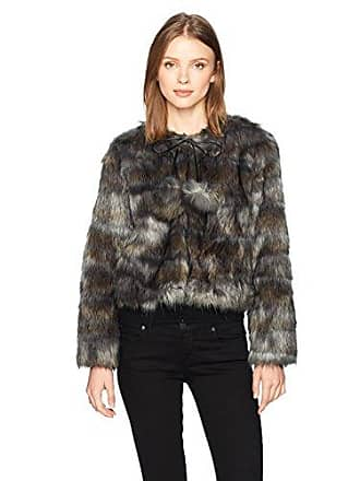 Ramy Brook Womens Camo Faux Fur Krissy Jacket, Grey Combo, L