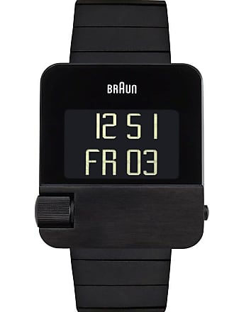 Braun BN0106 Black Prestige Digital Mens Watch | Steel