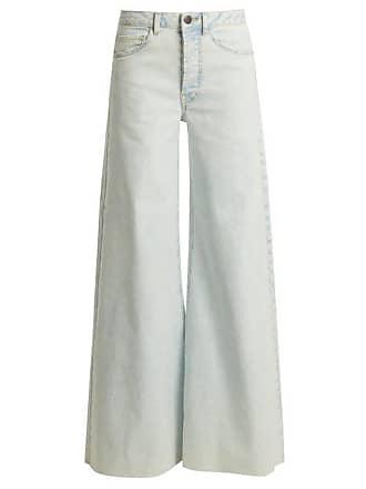 Raey Loon Wide Leg Jeans - Womens - Blue White