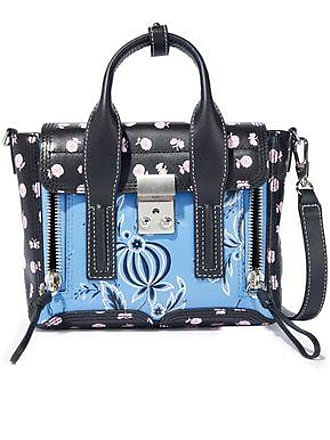 12f07f2f3 3.1 Phillip Lim 3.1 Phillip Lim Woman Pashli Mini Floral-print Leather  Shoulder Bag Black