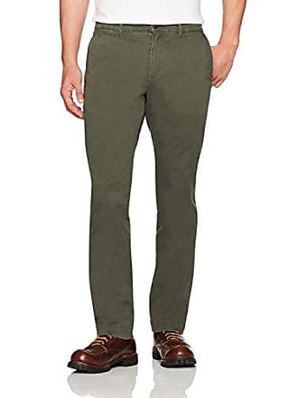 Goodthreads Mens Straight-Fit Washed Stretch Chino Pant, Olive, 31W x 32L