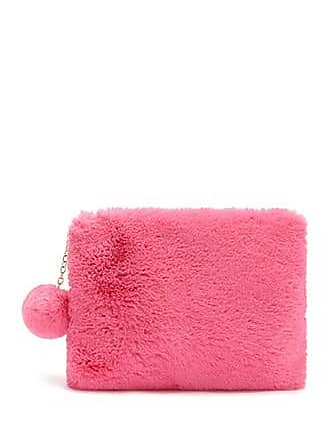 Forever 21 Forever 21 Faux Fur Pom Pom Pouch Pink