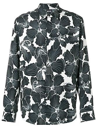 Just Cavalli Camiseta com estampa hibiscus - Preto