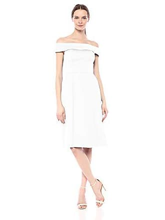 45d4530b338542 Calvin Klein Womens Folded Off The Shoulder A Line Dress