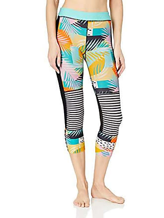 Body Glove Womens Outcast Hybrid Surf Capri Swimsuit with UPF 50+, Five Print, X-Large